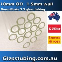 Glass Tubing 10mm @ 1.5mm wall